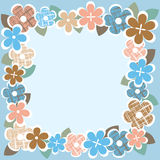 Vintage  flower border Royalty Free Stock Photo