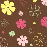 Vintage Flower Brown Background Royalty Free Stock Photo