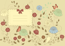 Vintage flower card Royalty Free Stock Photography