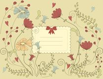 Vintage flower card Stock Images