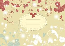 Vintage flower card Royalty Free Stock Photos