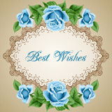 Vintage flower card with roses Royalty Free Stock Images
