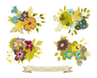 Vintage Flower Elements Collection Stock Photo