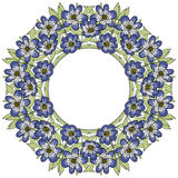 Vintage  flower frame. background with leaves Stock Photos