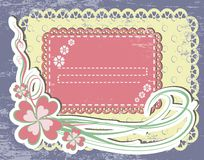 Vintage flower Frame Design For Greeting Card Royalty Free Stock Photos