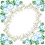 Vintage flower frame with geranium Stock Image