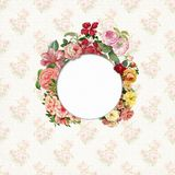 Vintage flower frame paper background. Vintage flower frame for your text or photo stock photos