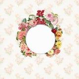 Vintage flower frame paper background Stock Photos