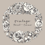 Vintage flower frame Royalty Free Stock Photo