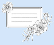 Vintage flower frame. Vector. Stock Photos