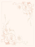 Vintage flower ink pattern Royalty Free Stock Photography