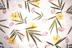 Vintage flower mulberry paper texture. Royalty Free Stock Image