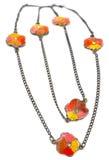 Vintage flower necklace. Stock Photo
