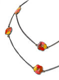 Vintage flower necklace. Stock Photos