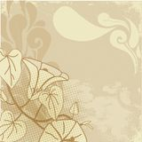 Vintage flower paint Stock Images