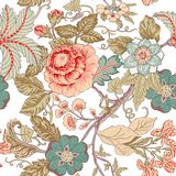 Vintage flower pattern Stock Illustration