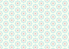 Vintage Flower Pattern on Pastel Background Royalty Free Stock Photo