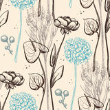 Vintage flower pattern. Stock Image