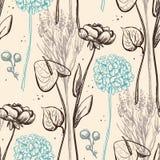 Vintage flower pattern. Stock Image