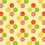 Vintage Flower Pattern in Warm Colors Stock Photos