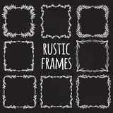 Vintage flower rustic  elements frames Royalty Free Stock Photo