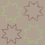 Vintage flower rustic  elements frames. Vintage flower rustic design elements frames star shaped Stock Photography