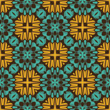 Vintage  flower seamless pattern Stock Photography