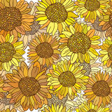 Vintage  flower seamless pattern. Royalty Free Stock Images