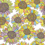 Vintage  flower seamless pattern. Stock Images