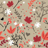 Vintage  flower seamless pattern. Stock Photos