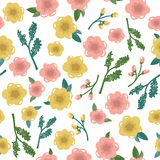 Vintage  flower seamless pattern Stock Image