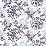 Vintage  flower seamless pattern. Stock Photography