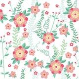 Vintage  flower seamless pattern. Royalty Free Stock Photo