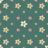 Vintage flower seamless pattern background. Royalty Free Stock Photo