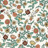 Vintage flower  seamless pattern Stock Image