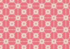 Vintage Flower and Swirl Pattern on Pastel Backgro Royalty Free Stock Image