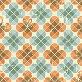 Vintage flower tiles with grunge texture seamless background, ve Royalty Free Stock Photography