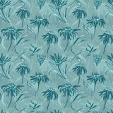 Vintage flower turquoise pattern Royalty Free Stock Photo