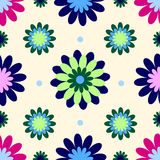 Vintage flower wallpaper. Texture made as vintage wallpaper with flowers Royalty Free Stock Images