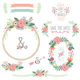 Vintage Flower Wreath Royalty Free Stock Images