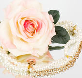 Vintage Flowers And Beads Royalty Free Stock Images