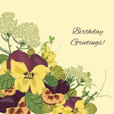 Vintage flowers background Stock Images