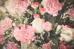 Vintage flowers for background texture. Photo of Vintage flowers for background texture Royalty Free Stock Photos