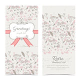 Vintage flowers banners set with text field Stock Image