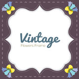 Vintage Flowers Border Royalty Free Stock Photos