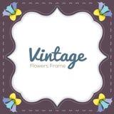 Vintage Flowers Border Royalty Free Stock Photos