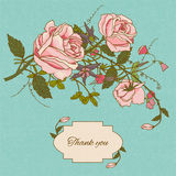 Vintage flowers card color Royalty Free Stock Photo