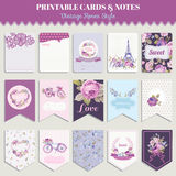 Vintage Flowers Card Set Royalty Free Stock Image