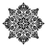 Vintage swirl Floral Center Design White Background stock image