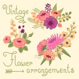 Vintage flowers. Cute flower for design Stock Photos